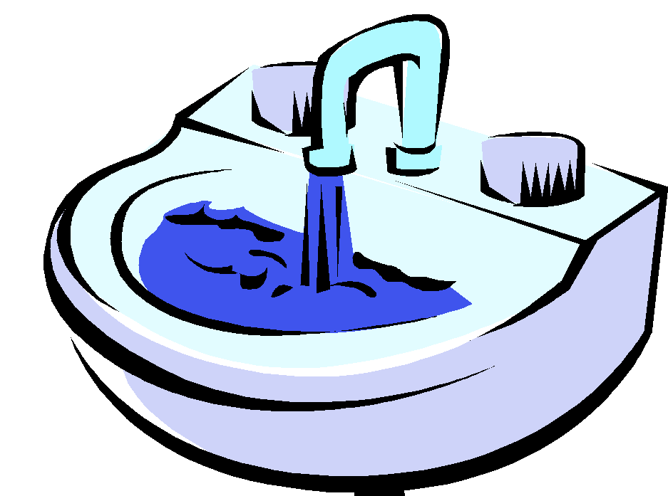 Kitchen Sink Counter Clipart