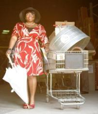 forklift fan in her finery compressed