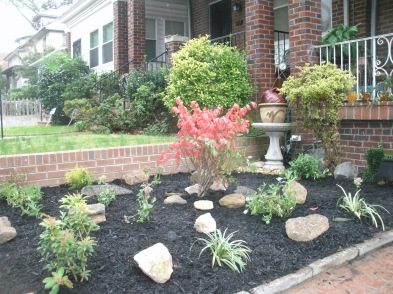 Rocks from the Forklift make Brown's front yard unique in his South Manor neighborhood.