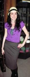 stylish woman in purple outfit compressed for web rotated for blog