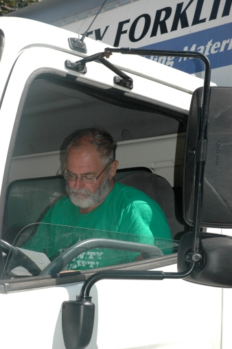 Tom Jamison does the bulk of the driving when a Community Forklift crew makes its rounds in the Washington, D.C., region each weekday.