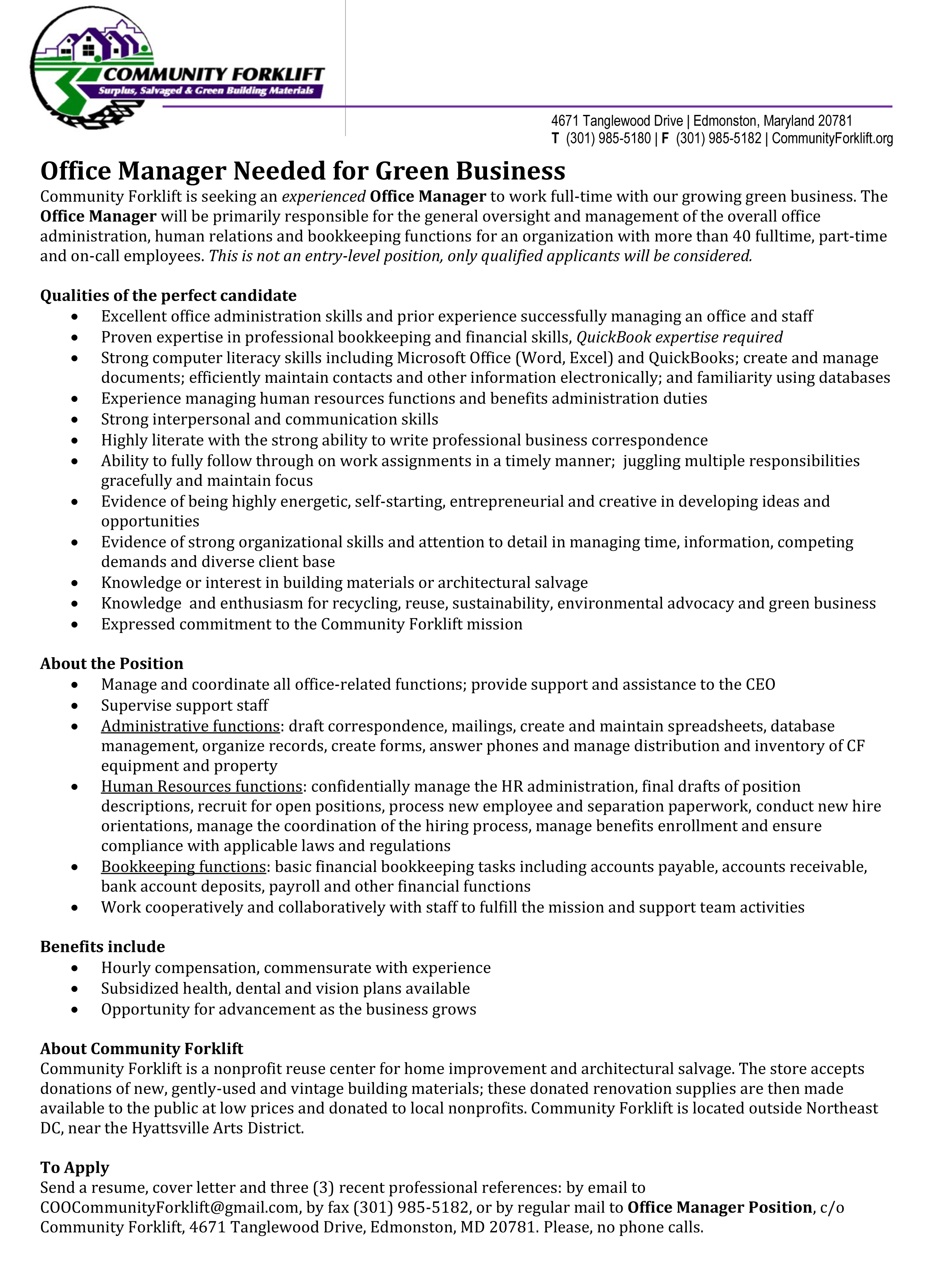 business management  small business manager job description