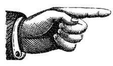 pointing finger vintage image