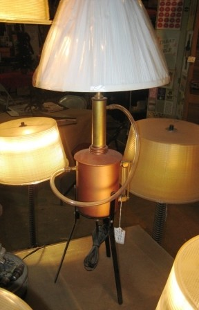 Terry Lewis Steampunk lamps for press release