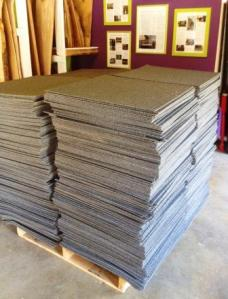 2014 - 05 - 06 stacks of carpet tile rotated