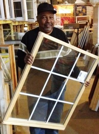 Cliff Wright, of Wright Way Construction, often finds great deals on windows at the 'Lift.