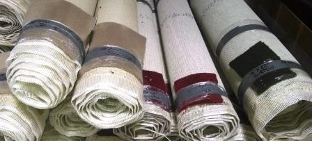 arrived – rolls of new, high-quality carpet! | Community Forklift