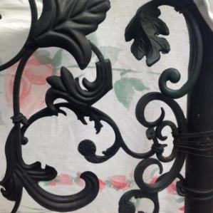 closeup of upcycled gate compressed