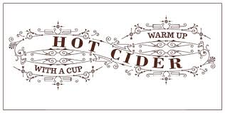 hot cider sign