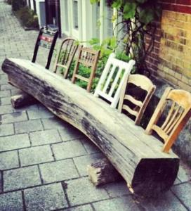 diy-creative-wood-log-chairs newnist