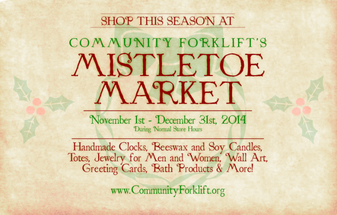 mistletoe market postcard