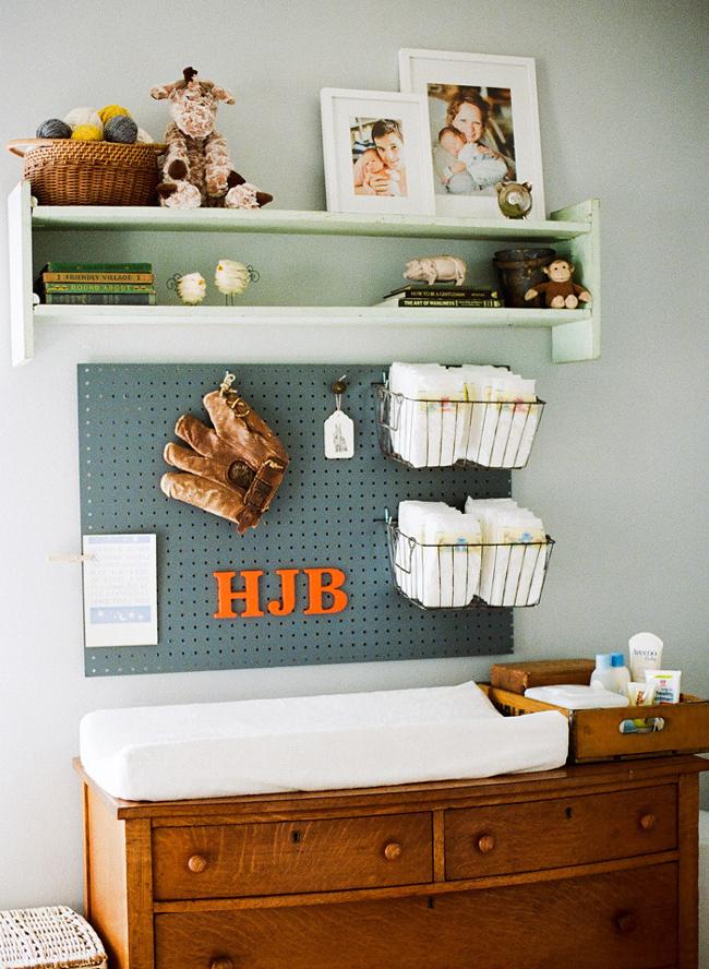 Pegboard nursery by Mandy Busby